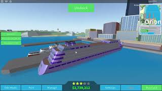 ROBLOX Cruise Ship Tycoon New Mega Ship