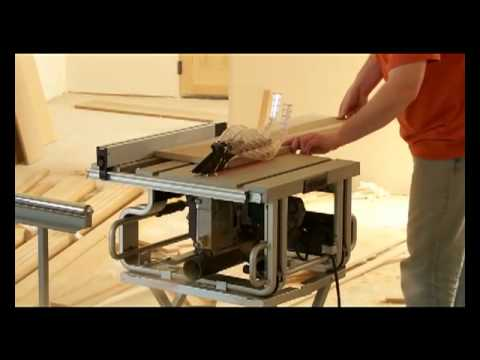 Bosch Table Saw Gts1031 Carry Bosch GTS1031 10-Inch Table Saw - YouTube