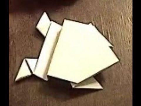 Оригами, прыгающая жаба