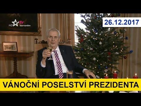 VÁNOČNÍ POSELSTVÍ PREZIDENTA. Miloš Zeman ve vánočním projevu promlouvá o