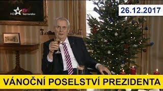 VÁNOČNÍ POSELSTVÍ PREZIDENTA 2017. Miloš Zeman ve vánočním projevu promlouvá o