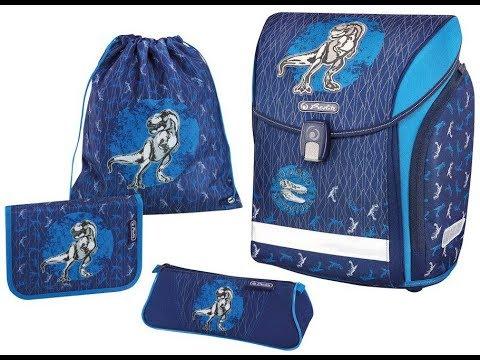 Обзор школьного ранца HERLITZ  New Midi  Blue Dino