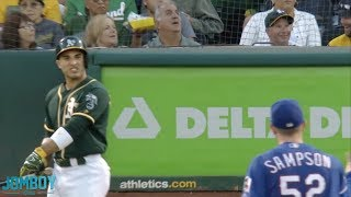 Ramón Laureano and the Oakland A's get into a little dust up, a breakdown