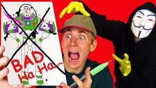 HACKER GETS ME BACK 😲 DIY CHALLENGE - Drawing and Coloring Page - Lightning Lane