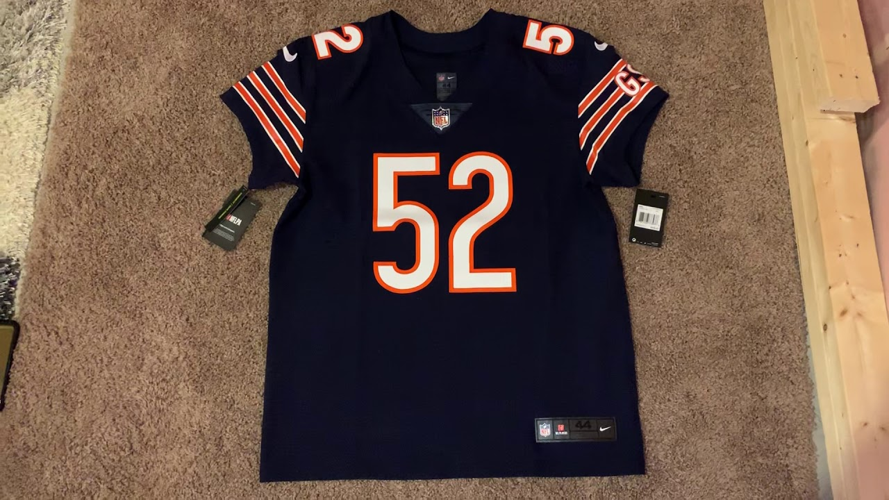 premium selection edcaa 97c09 Nike NFL Elite Jersey Review (Chicago Bears - Khalil Mack)
