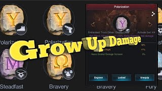 How To Grow Up Damage By Set Effect The Polarization (Y) Runes || The Last Empire war Z screenshot 5