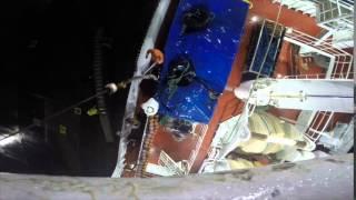 Casting off and leaving Killybegs - Esbjerg Trawler E349 Cattleya