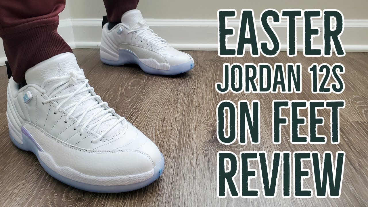 Air Jordan 12 Retro Low Easter On Feet Review (DB0733 190)
