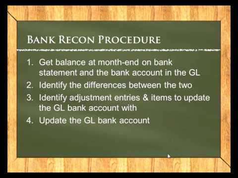 Accounting Lessons: Bank Reconciliation