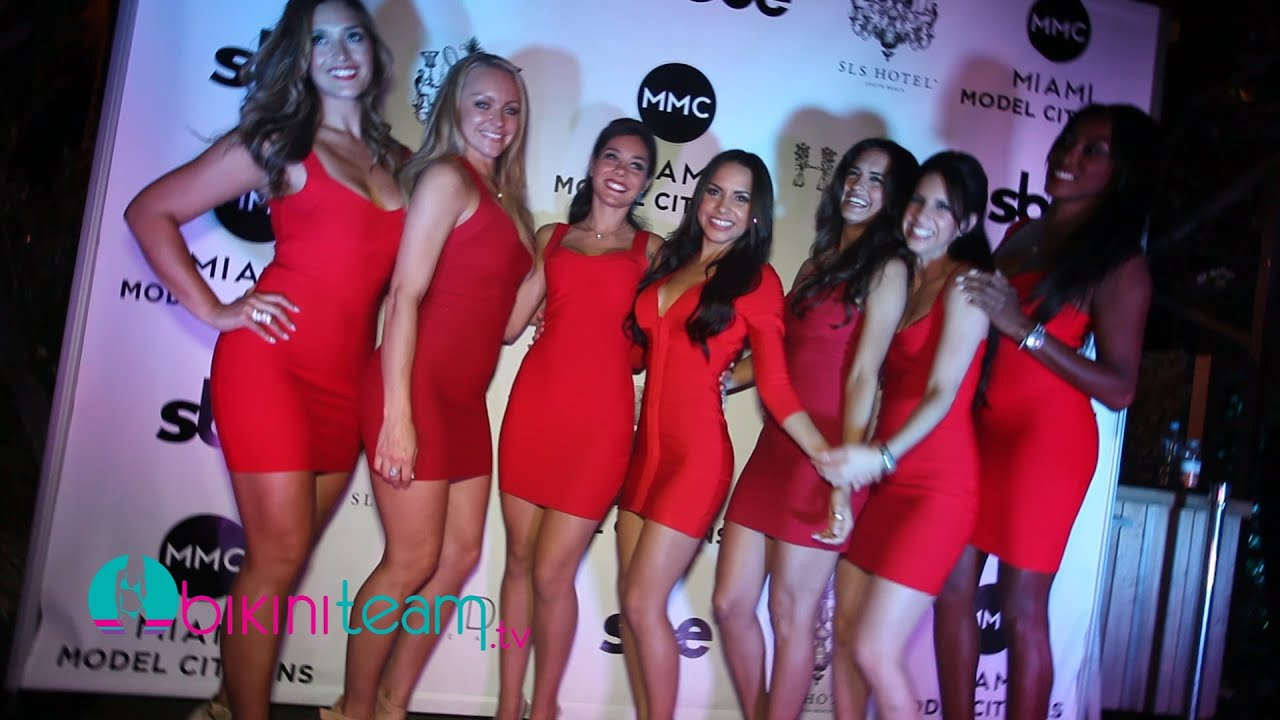 Miami Model Citizens Launch Party At Sls Hotel Pool South Beach