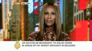 somali model on al-jazeera talks about famine in somalia.flv