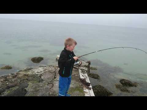 Sebastian med sin første Hornfisk