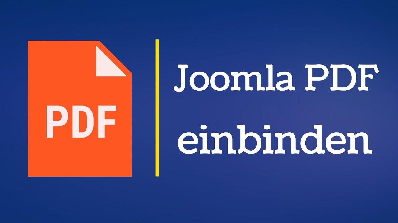 JOOMLA PDF ZUM EINBINDEN EBOOK DOWNLOAD