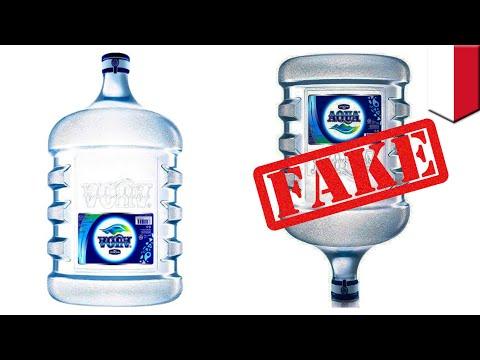 Tips membedakan Aqua galon palsu dengan yang asli - TomoNews
