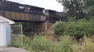 NS Shortie intermodal southbound through Shenandoah Junction WV.