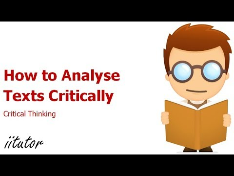 √ How to Analyse Texts Critically - Critical Thinking - English