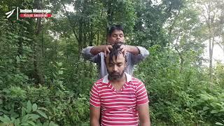 ASMR Sharwan Barber OutDoor Head Massage