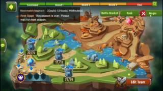 Batalhas da Arena e salves - Magic Rush Heroes