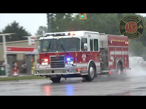 PWFD Wyoming Station - Pumper 1, Rescue 4 & Tanker 2 Responding.