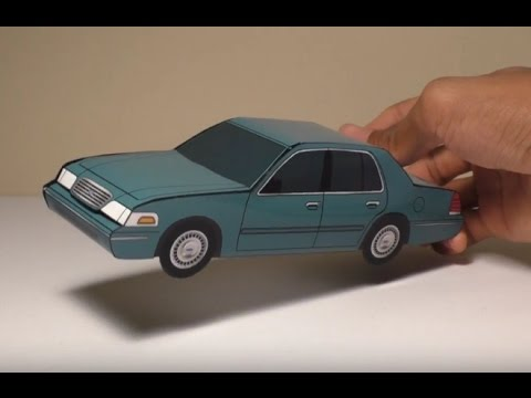 Ford Crown Victoria 2017 >> JCARWIL PAPERCRAFT 1998 Ford Crown Victoria (Building Paper Model Car) - YouTube