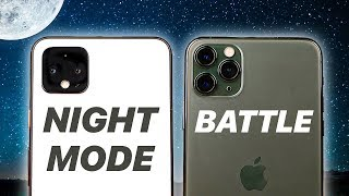 Pixel 4 vs iPhone 11 Pro - Night Mode Battle!   Photo Comparison