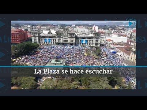 #ParoNacional l Miles de personas en La Plaza de la Constitución l Prensa Libre
