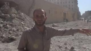 قصف على حي طريق الباب في أول أيام عيد الفطر بالرغم من أعلان نظام الأسد التهدئة6-7-2016
