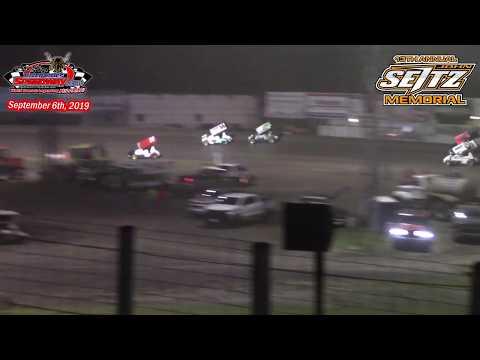 River Cities Speedway NOSA Sprint Car Heats (13th Annual John Seitz Memorial) (9/6/19)