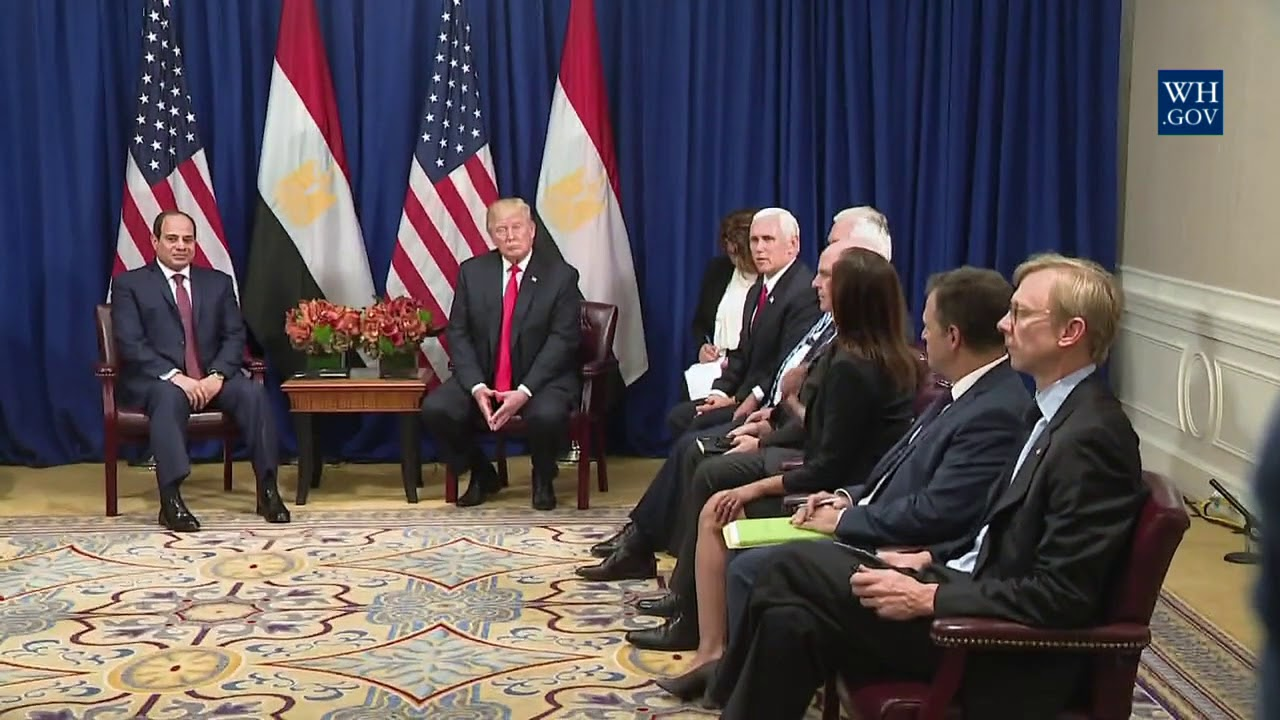 President Trump Participates in an Expanded Meeting with the President of Egypt