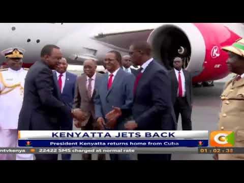 President Kentatta jets back