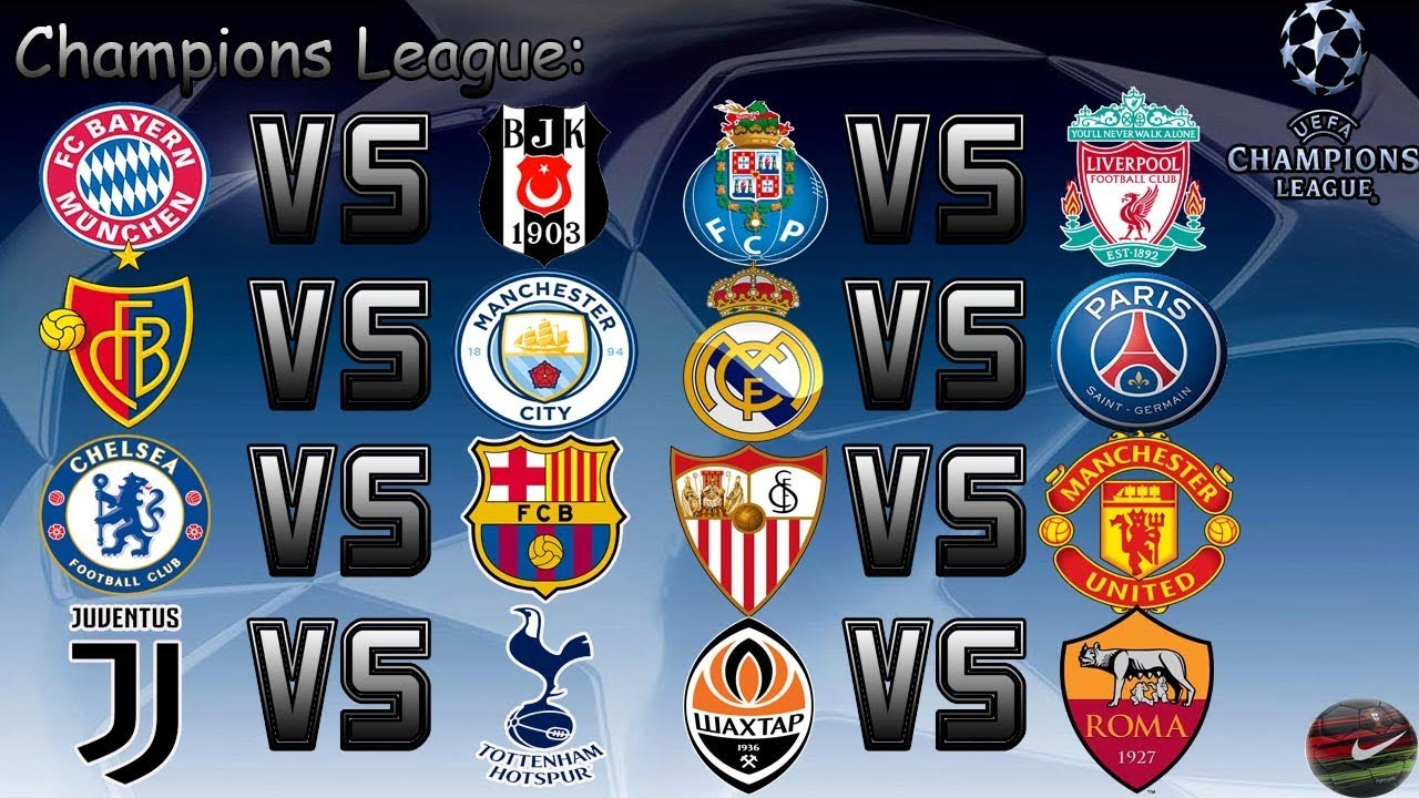 Champions League Tirage Image: Tirage Au Sort 1/8eme Champions League!!