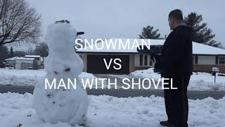 *FOR ADULTS ONLY* THE SNOWMAN VS Sword, Shovel, And Baseball Bat / Vlogs