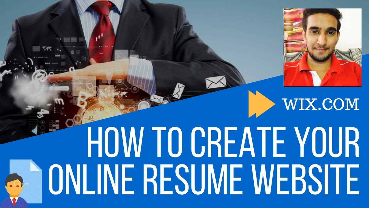 how to create your online resume website wix tutorial free