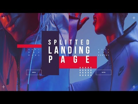 Splitted Landing Page | SVG Button | CSS Tutorial thumbnail