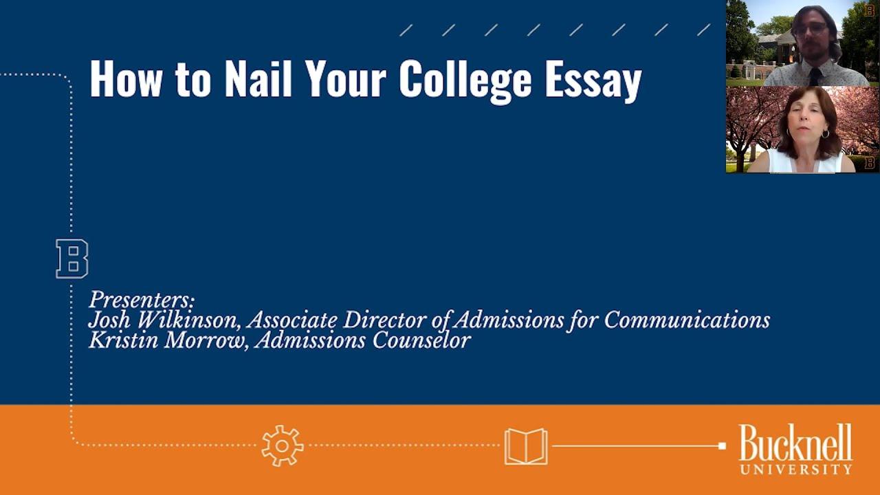 bucknell university college essay