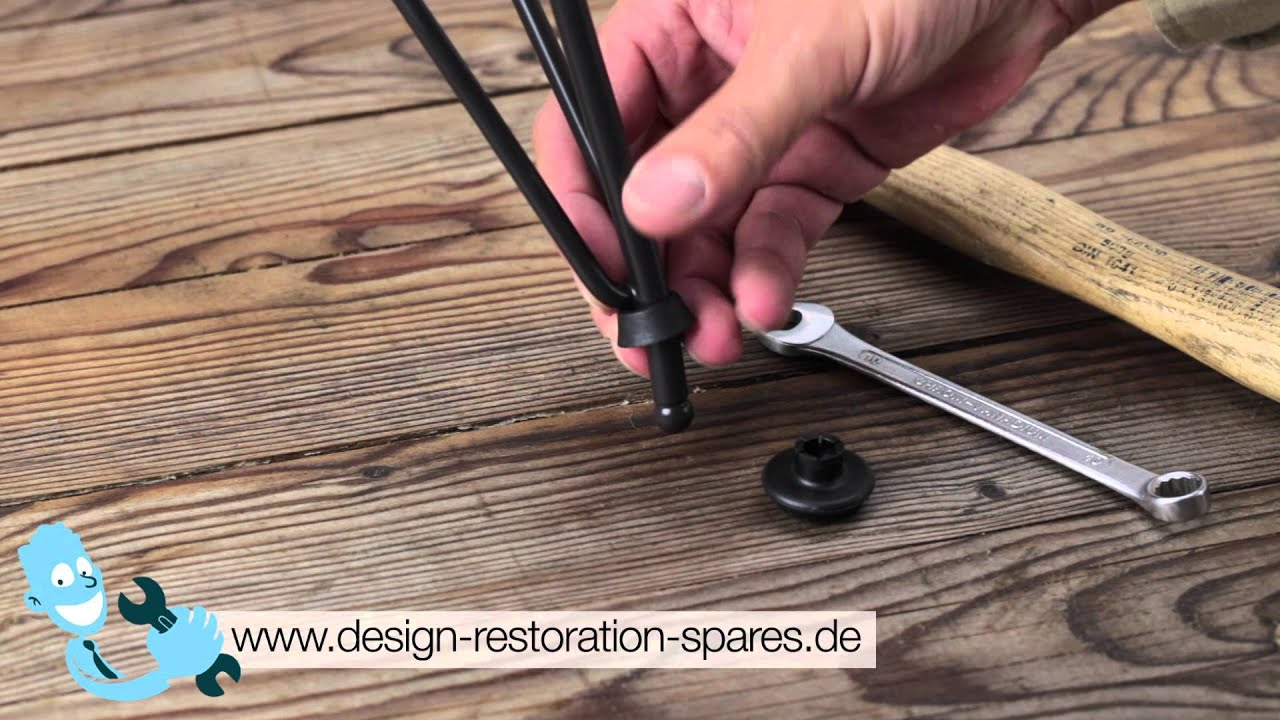 how to install glides for eames plastic chairs eiffel base dsr dar