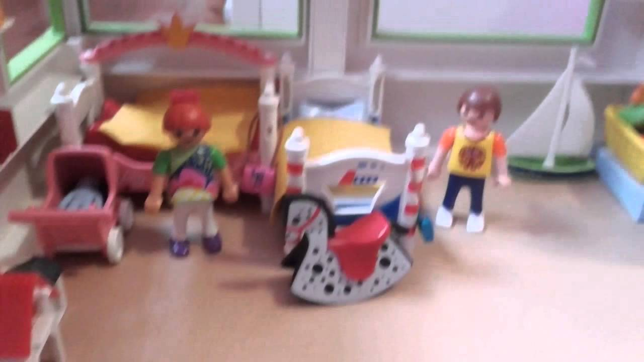 Vid o playmobil pr sentation de ma maison moderne youtube for Maison moderne playmobil