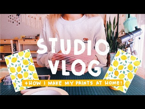 VLOG 012 | How I Make Art Prints At Home, Packing Orders and Patreon Goodie Bags