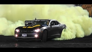 KILLA-B SUPERCHARGED CAMARO FINALS BURNOUT AT BRASHERNATS SYDNEY 2015