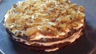 печеночный торт, быстрый рецепт тортика из печени(печеночный торт, как быстро приготовить вкусный печеночный торт, быстрый рецепт тортика из печени., 2015-10-10T14:22:38.000Z)