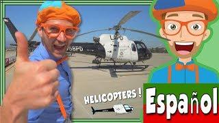 Blippi Español y el Helicóptero de la Policía de Los Ángeles | Videos Educacionales para Niños