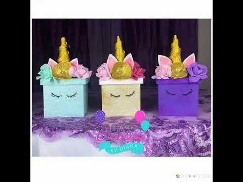 Centro de mesa unicornio youtube for Decoracion para pared de unicornio