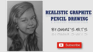 Gorgeous Young Girl Drawing (Chami