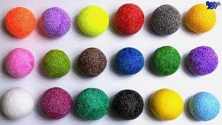 Aprender Los Colores Con Brillo De Espuma Blanda| Los Colores en Español | Videos Educativos