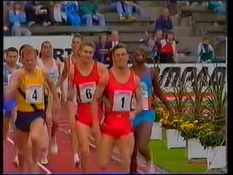 Tom McKean - 800m Zurich 1985 & 1988, Edinburgh 1990