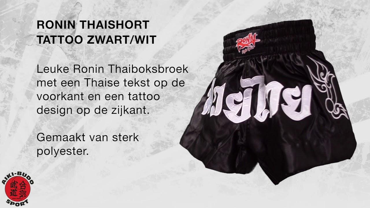 Ronin Thaishort Tattoo Blackwhite