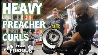 Heavy Ass Preacher Curls w/ CT Fletcher and Big J! | Furious Pete