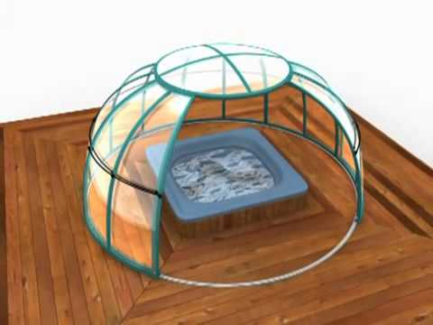 alukov berdachung spa dome orlando 3d animation youtube. Black Bedroom Furniture Sets. Home Design Ideas