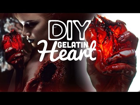 How to make a fake heart - Special FX DIY Gelatin Heart