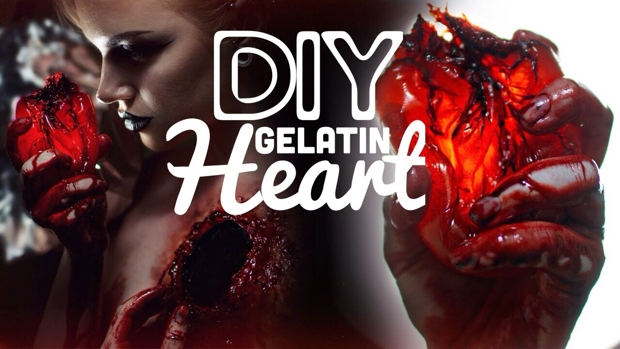 How to make a fake heart - Special FX DIY Gelatin Heart - YouTube